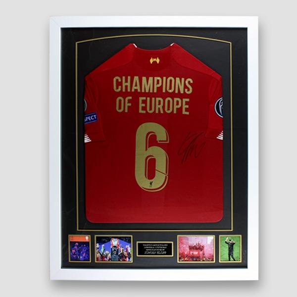 Liverpool European Cup Football Shirt signed by Jurgen Klopp In Frame