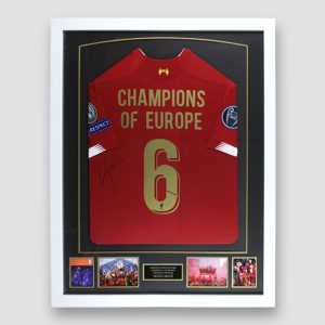 Liverpool European Cup Football Shirt signed by Sadio Mane, professionally framed