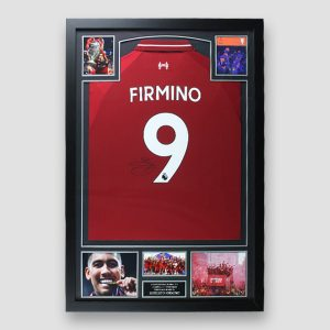 Football Shirt signed by Firmino in Frame MFM Sports Memorabilia