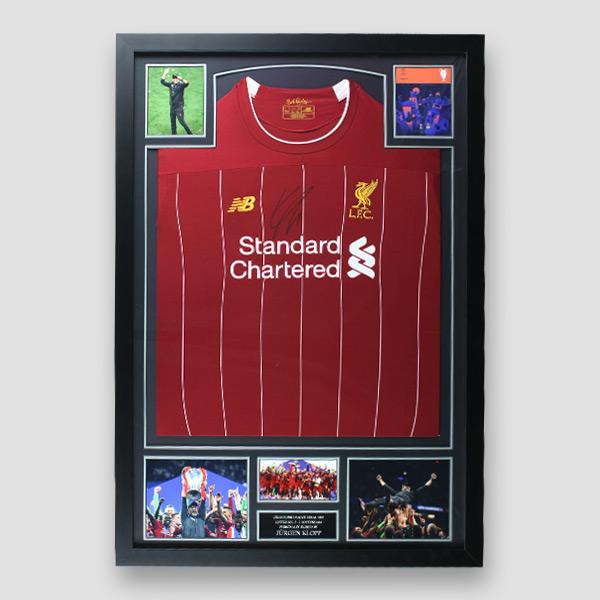 Liverpool Football Shirt signed by Jurgen Klopp
