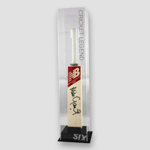 Mini Cricket Bat Signed by Mike Gatting (With or Without Display Case) MFM Sports Memorabilia