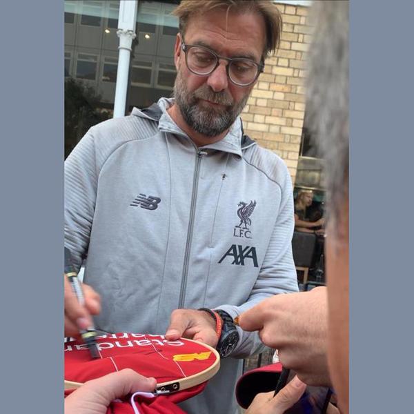 Liverpool Football Shirt signed by Jurgen Klopp In Frame (2)