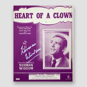 Sir Norman Wisdom Signed Music Sheet 'Heart of a Clown'