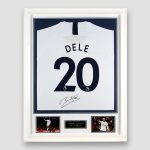 Tottenham-Hotspur-Football-Shirt-signed-by-Dele-Alli,-professionally-framed
