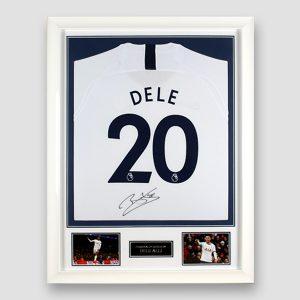 Tottenham Hotspur Football Shirt Signed by Dele Alli, Professionally Framed