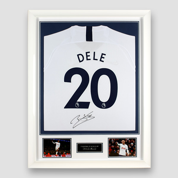 Tottenham Hotspur Football Shirt Signed by Dele Alli, Professionally Framed