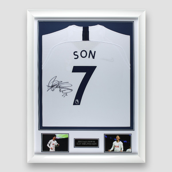 Tottenham Shirt Signed by Son Heung-Min, Professionally Framed