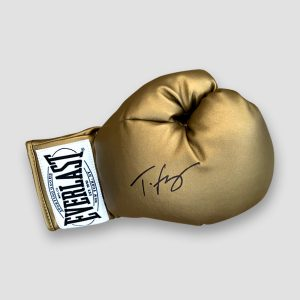 Tyson Fury Hand Signed Everlast Gold Boxing Glove
