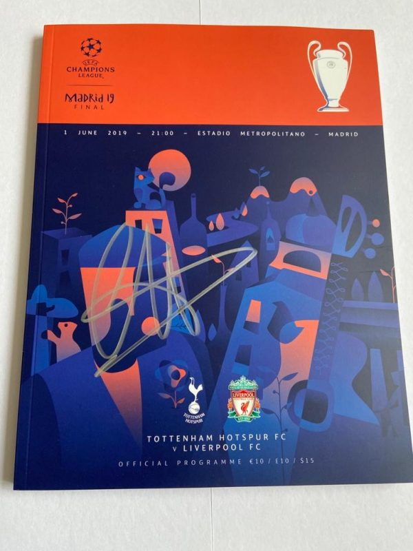 Champions League Final Madrid programme signed by Trent- Alexander-Arnold