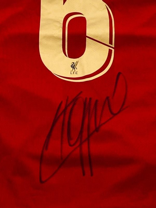 Liverpool Champions of Europe No.6 Football Shirt Signed by Jurgen klopp