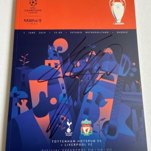 Jurgen Klopp signed  Champions League Madrid 2019 Final Programme
