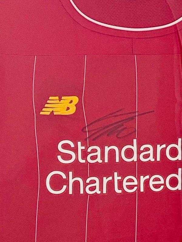 Liverpool Football Shirt signed by Jurgen Klopp In Frame