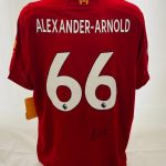 Liverpool Football Shirt signed by Sadio Mane, (see our photo proof)