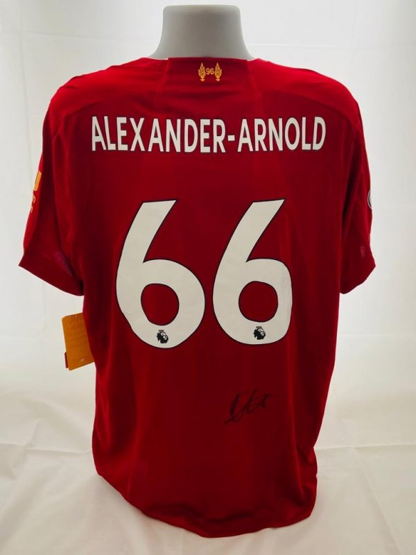 Liverpool home shirt signed by Trent Alexander-Arnold