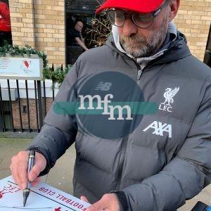 Jurgen Klopp signed Street sign Liverpool FC