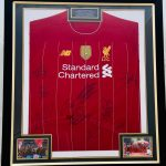 Professionally Framed Liverpool home shirt signed by Fabinho