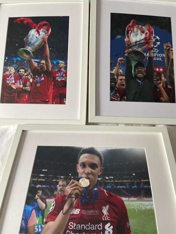 Champions League Madrid Final photos signed by Klopp / Alexander-Arnold