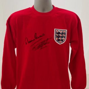 World Cup 66 Replica Score Draw Shirt Signed by the Goal Scorers,Geoff Hurst & Martin Peters