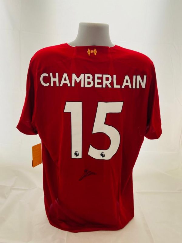 Liverpool Home Football Shirt signed by Oxlade-Chamberlain