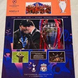 Liverpool Champions League Final Madrid programme montage Celebrations   Signed by Jurgen klopp