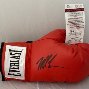 Mike Tyson Signed Red Everlast Boxing Glove with (JSA Authentication See photos)