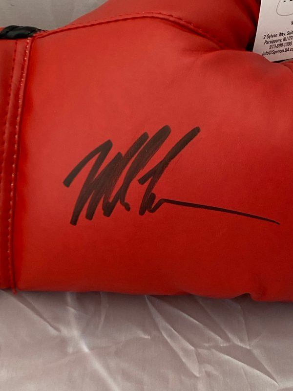 Mike Tyson Signed Red Everlast Boxing Glove with Light Up Display