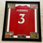Chelsea Shirt Signed 0n the number 8 by Frank Lampard,