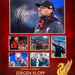 Liverpool home 2018/19 shirt signed by Virgil Van Dijk ,Framed