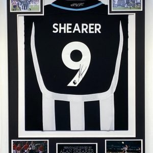 Alan Shearer Signed Framed Newcastle Shirt Great Item