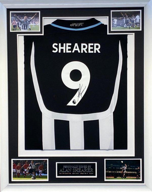 Alan Shearer Signed Framed Newcastle Shirt Great Item