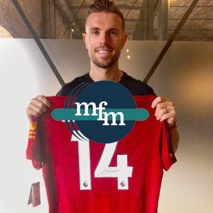 Liverpool home 2018/19 shirt signed by Jordan Henderson ( Captain )