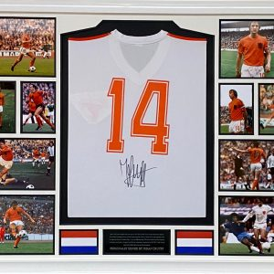 Holland Football Club 1974 World Cup Away shirt personally signed by Johan Cruyff Rare Lovely Item