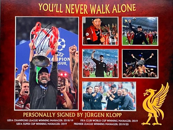 Liverpool Montage Celebrations Of League and Cup Wins Signed by Jurgen Klopp The Normal One