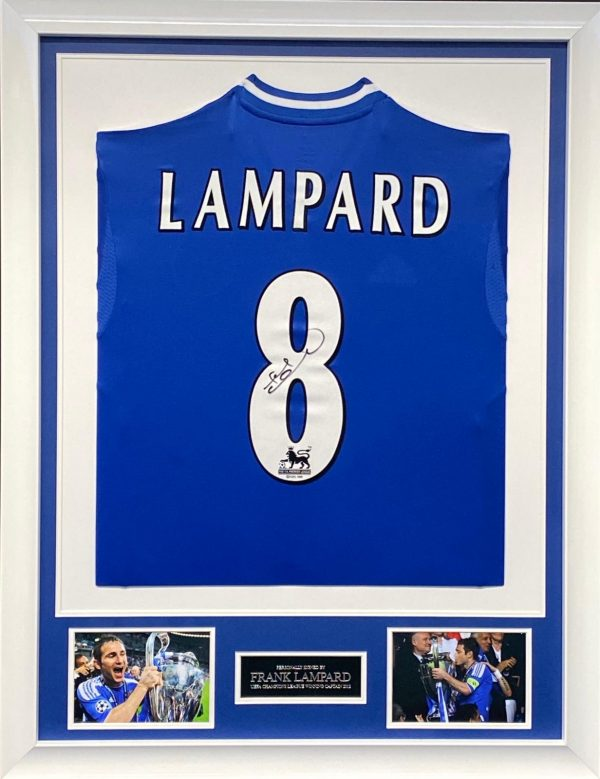 Chelsea Shirt Framed Signed by Frank Lampard,