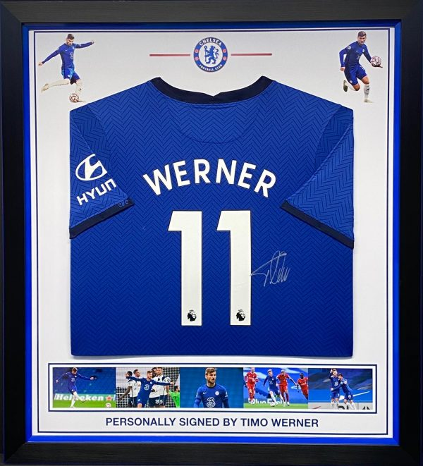 Chelsea FC  shirt signed by Timo Werner , Professionally framed