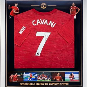 Manchester  Utd  shirt signed by Edinson Cavani  , Professionally framed