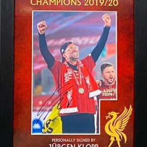 Liverpool Jurgen Klopp Signed Framed Celebration Of Premier League Winners  by The Normal one