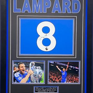 Chelsea Shirt Signed by Frank Lampard, Framed