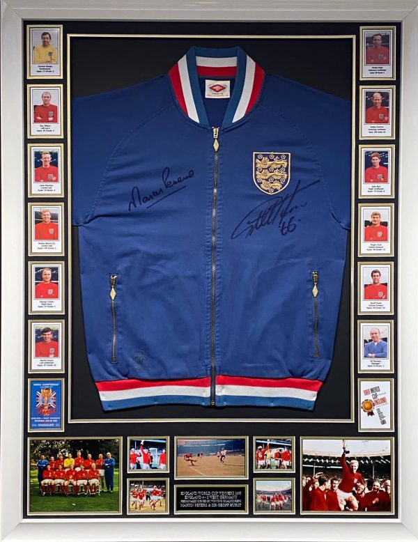 World Cup 1966 Replica Tracksuit Top Signed by the Goal Scorers, Geoff Hurst & Martin Peters)
