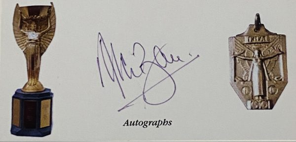 Alan Ball  Jules Rimet Signed index card 1966 World Cup Memorabilia