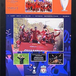 Liverpool Champions League Final Madrid montage celebrations signed by Jurgen Klopp