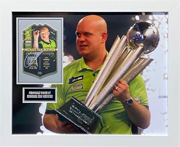 Michael Van Gerwen Signed and Professionally Framed Darts Montage